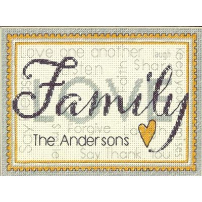 Modèle broderie Dimensions family