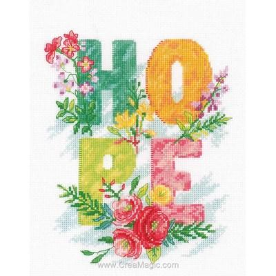 Broderie en point compté Vervaco hope - l'espoir fleuri