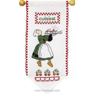 Kit bannière à broder bécassine cuisine - Princesse