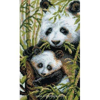 Broderie le panda et son petit - RIOLIS