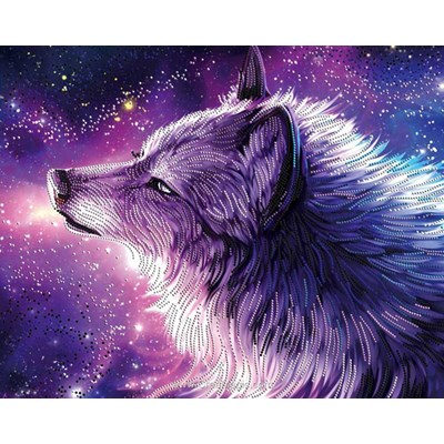Broderie diamant spirit of the wolf de Diamond Painting
