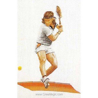 Tennis sur lin modèle Thea Gouverneur au point de croix