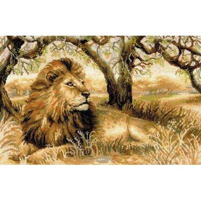 Le lion roi de l jungle kit broderie point de croix - RIOLIS