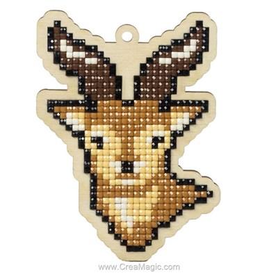 Broderie diamant Wizardi mountain deer