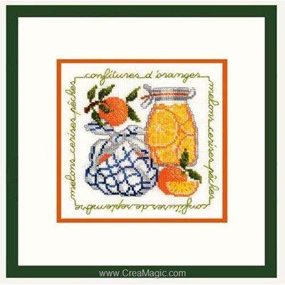 Confiture d'oranges broderie au point de croix compté - Le Bonheur Des Dames