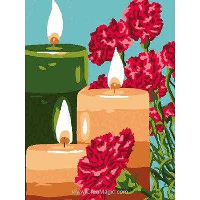 Kit canevas debutant trois bougies de Luc Création