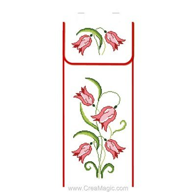 Kit sac à pain fleurs tulipe à broder de Luc Création