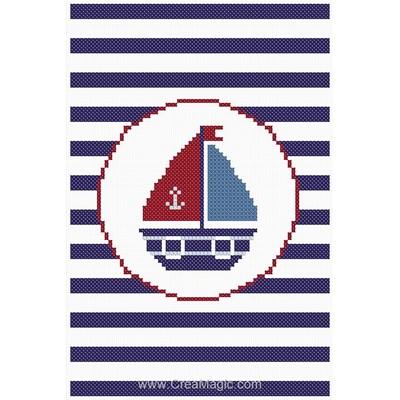 Modèle au point de croix le joli petit navire - Princesse