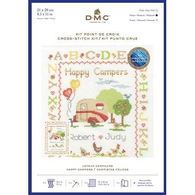 Kit tableau DMC point de croix collection abécédaires célébrations - joyeux campeurs