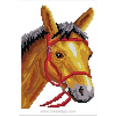 Mini kit de point de croix Luc Création cheval