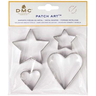 Emporte pièces coeur et étoile pour le patch art - DMC