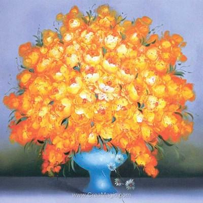 Kit broderie diamant golden bouquet - Diamond Painting