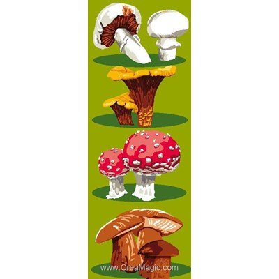 Les champignons canevas chez Luc Création