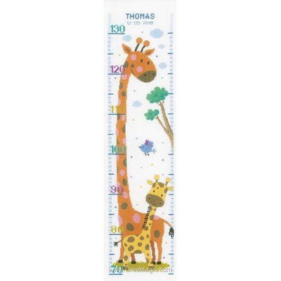 Kit toise à broder girafe et st son girafon - Vervaco