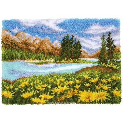 Kit tapis point noue le lac de la montagne - Vervaco