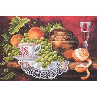 Broderie aida imprimée fruit feast de Collection d'art