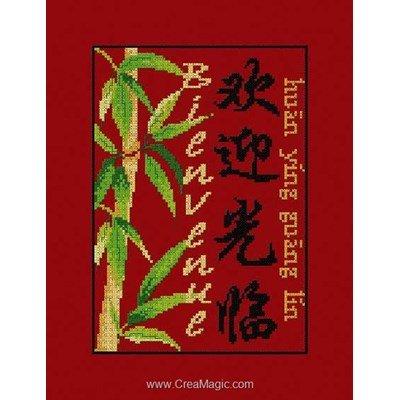 Broder en point de croix bienvenue chinois - Aux 4 Points Du Monde