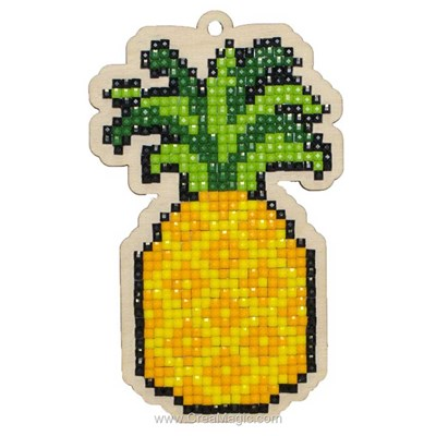Kit broderie diamant pineapple - Wizardi