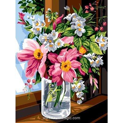 SEG canevas bocal de fleurs