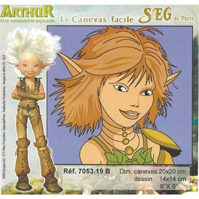 Arthur et les minim-oys sélénia - b kit canevas avec fils - SEG