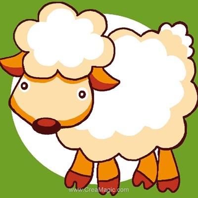 Kit canevas enfant Luc Création mouton