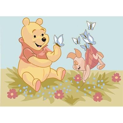 Winnie et porcinet et les papillons - les aventures de winnie canevas - DMC