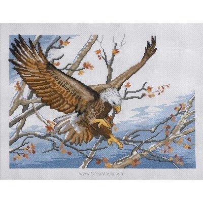 Point de croix compté Permin eagle sur toile lin