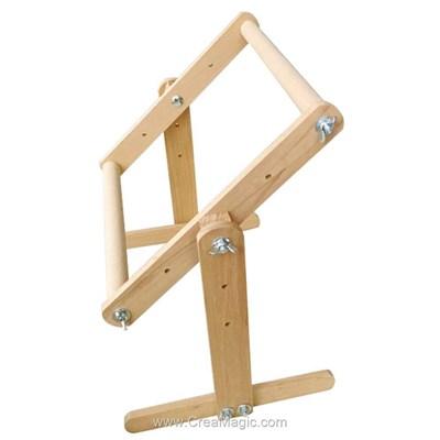 Métier à broder rotatif de table 30x30 cm - Dubko