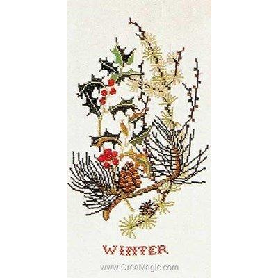Winter sur lin modèle broderie - Thea Gouverneur