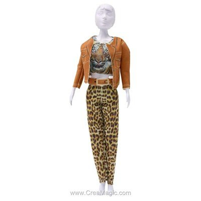 Couture set kitty tiger DRESS YOUR DOLL