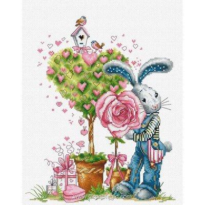 Valentin et fleur le point de croix - Luca-S