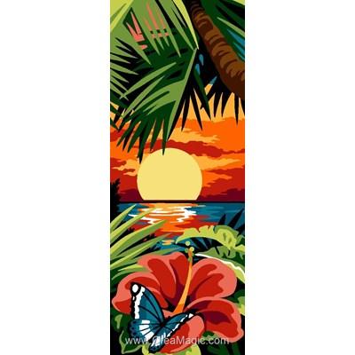 Coucher de soleil des îles canevas de SEG