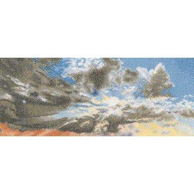 Broderie au point de croix cliché du ciel sur aida - Thea Gouverneur