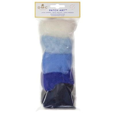 Pack de laine cardée pour motif nuage et pluie patch art - DMC
