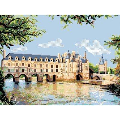 Le château de chenonceaux canevas de Luc Création