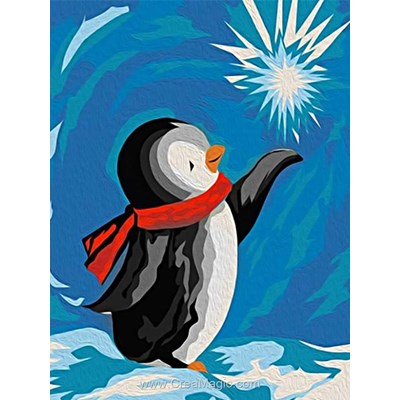 Kit broderie diamant penguin - Wizardi