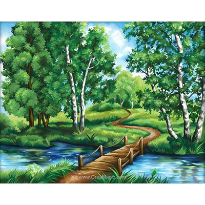 Kit broderie diamant Diamond Painting forest