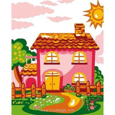 Kit canevas Luc Création pour enfant maison de rêve