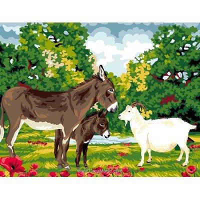 Luc Création canevas réunion ane et chèvre