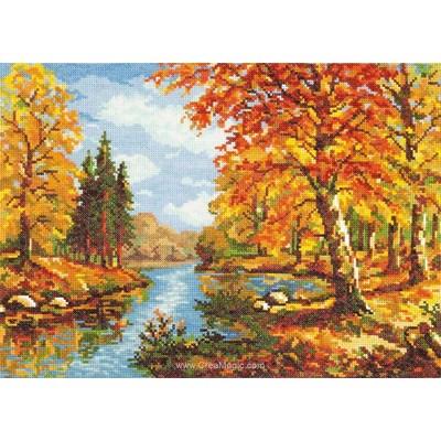 La rivière en automne kit broderie - Magic Needle