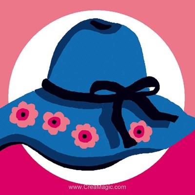 Chapeaux bleu aux roses kit canevas pour débutant - Luc Création