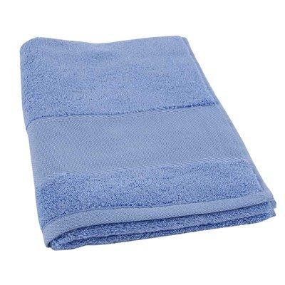 Serviette de toilette coton 500 g/m2 -col 073 bleu méditerranée à broder de DMC