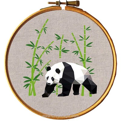 Broderie traditionnelle Princesse panda