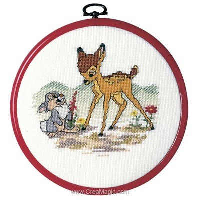 Kit point croix bambi et panpan disney chez Royal Paris