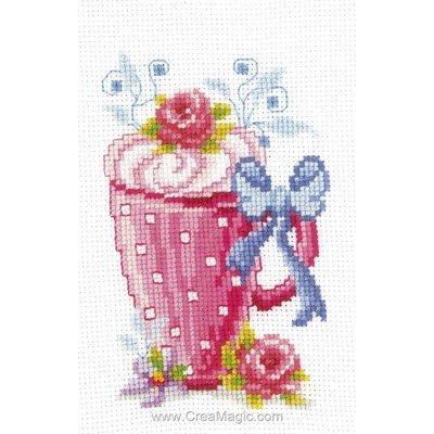 Mini kit Vervaco mug fleuri