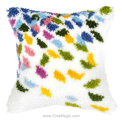 Kit coussin point noue Orchidea pétales colorées