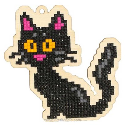 Kit broderie diamant black cat de Wizardi