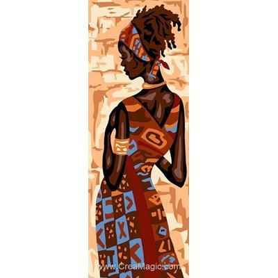 Féminité d'afrique canevas de Margot