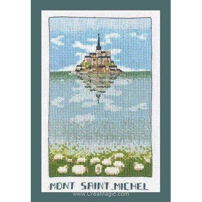 Modèle broderie point de croix Le Bonheur Des Dames mont saint michel