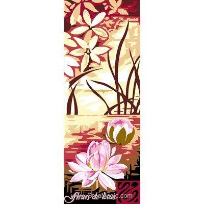 Canevas Margot fleurs de lotus 3